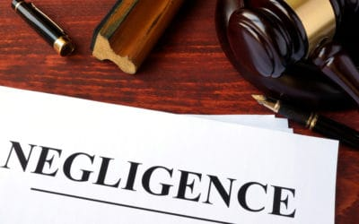 Negligence with gavel
