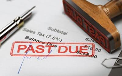 Past due debt notice
