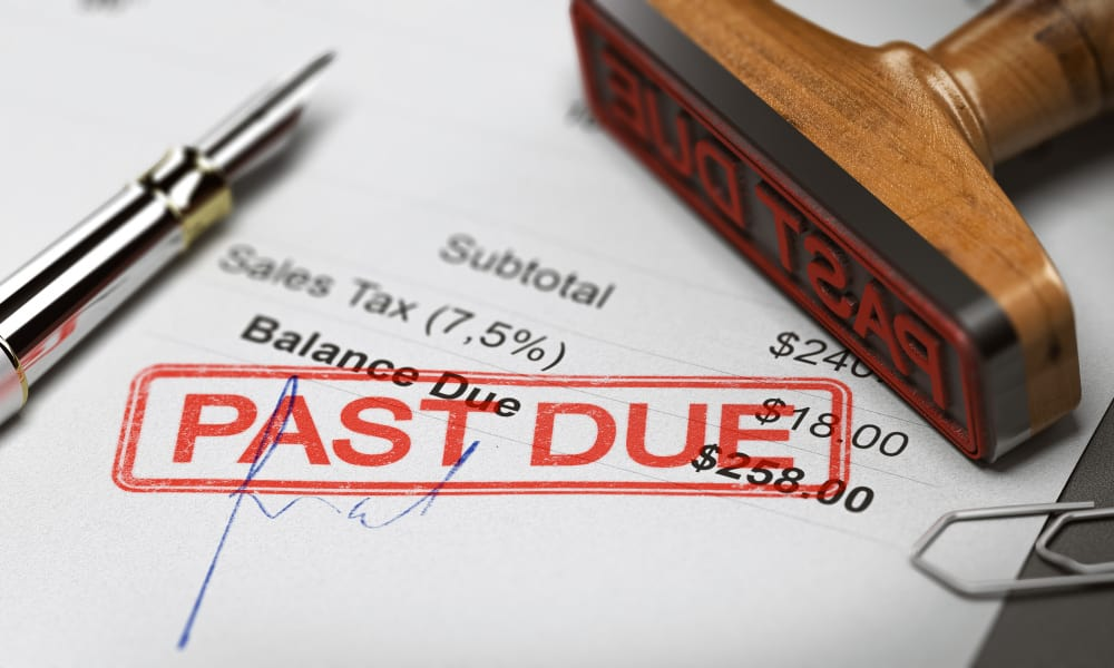 Past due debt notice