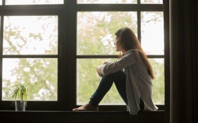 Woman suffering in silence