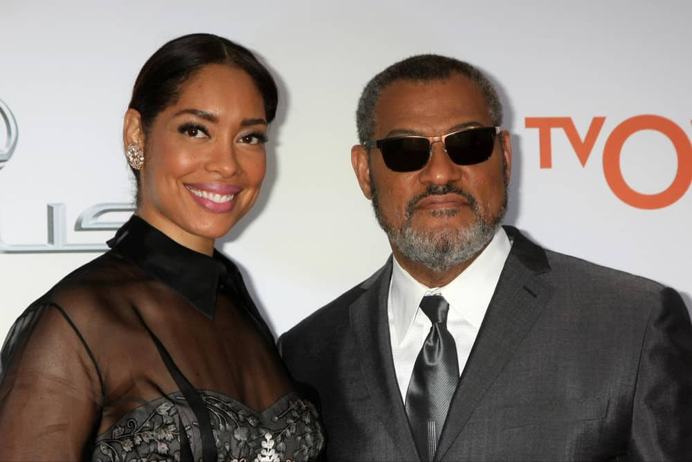 Gina Torres, Laurence Fishburne at the 46th NAACP Image Awards Arrivals at a Pasadena Convention Center on February 6, 2015 in Pasadena, CA