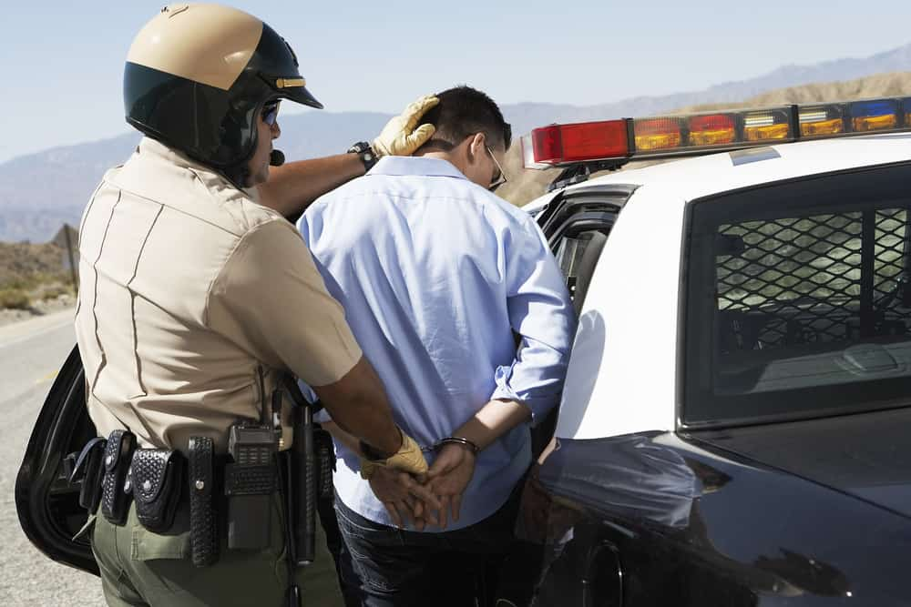 Police arresting a suspect