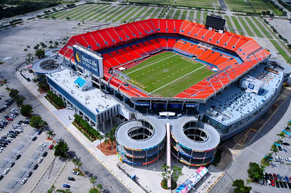Sun Life Stadium in Miami, FL. Stephen Ross owns the Miami Dolphins.