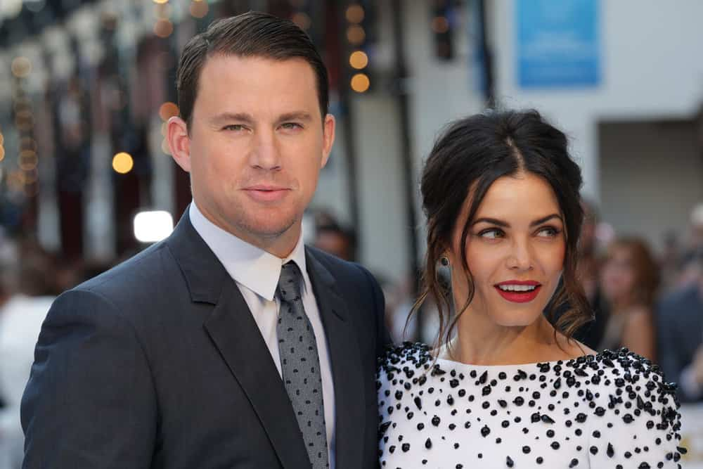Channing Tatum and Jenna Dewan attend the Magic Mike: XXL - UK film premiere, Leicester Square on Jun 30, 2015 in London