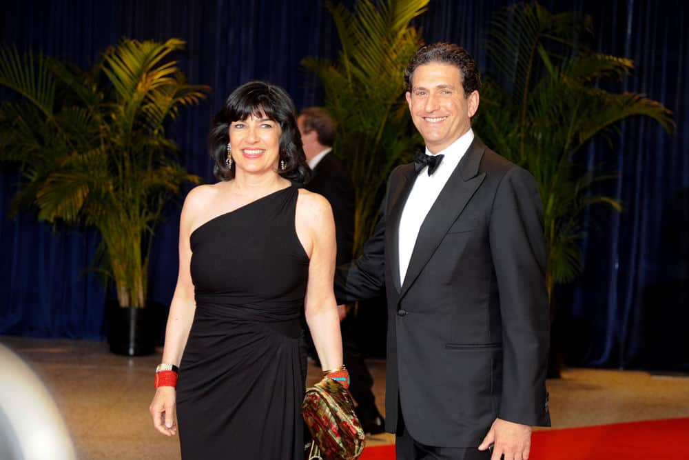 Christiane Amanpour and husband Jamie Rubin arrive at the White House Correspondents Association Dinner May 1, 2010 in Washington, D.C.