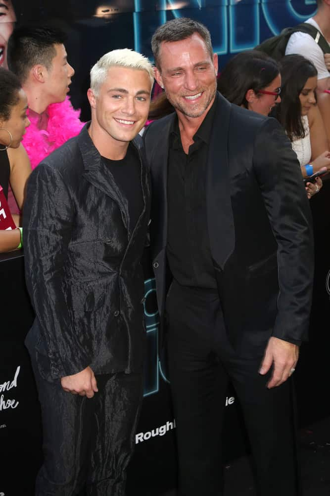"Colton Haynes and Jeff Leatham attend the premiere of ""Rough Night"" at the AMC Lincoln Square Theater on June 12, 2017 in New York City"