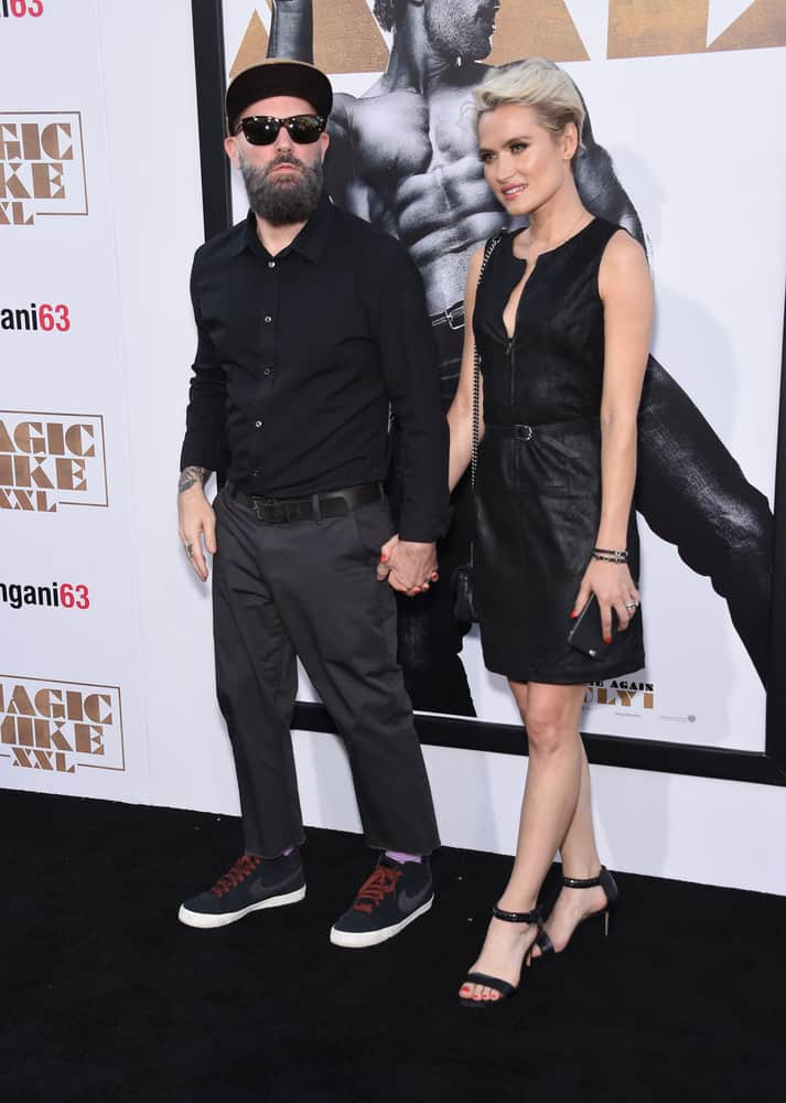 "Fred Durst & Kseniya Beryazina arrives to the ""Magic Mike XXL"" World Premiere on June 25, 2015 in Hollywood, CA"