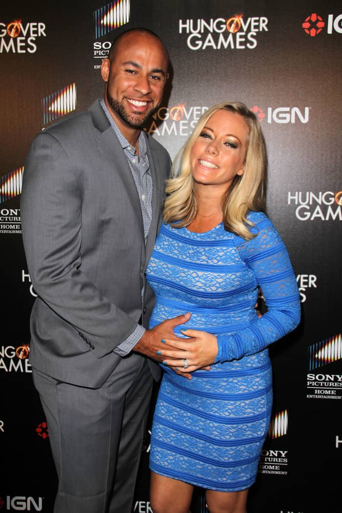 "Hank Baskett, Kendra Wilkinson at the ""The Hungover Games"" Premiere at TCL Chinese 6 Theater on February 11, 2014 in Los Angeles, CA"