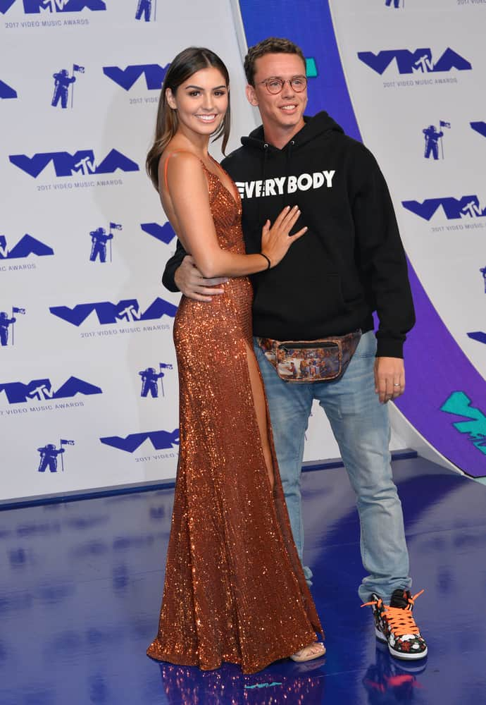 "Logic & Jessica Andrea at the 2017 MTV Video Music Awards at The ""Fabulous"" Forum"