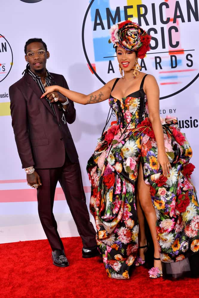 Offset & Cardi B at the 2018 American Music Awards at the Microsoft Theatre LA Live