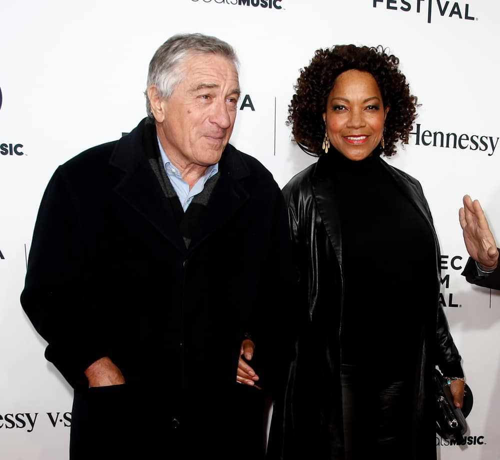 "Robert De Niro and Grace Hightower at the world premiere of ""Time Is Illmatic"" at the 2014 TriBeCa Film Festival Opening Night at Beacon Theatre on April 16, 2014 in New York City"