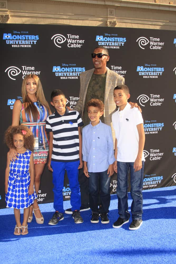 "Scotty Pippen and family at the ""Monsters University"" Premiere at El Capitan Theater on June 17, 2013 in Los Angeles, CA"