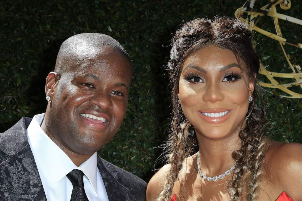 Vincent Herbert, Tamar Braxton at The 43rd Daytime Emmy Awards Gala at the Westin Bonaventure Hotel on May 1, 2016 in Los Angeles, California