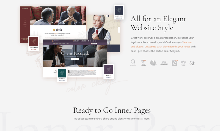Justica WordPress theme for law