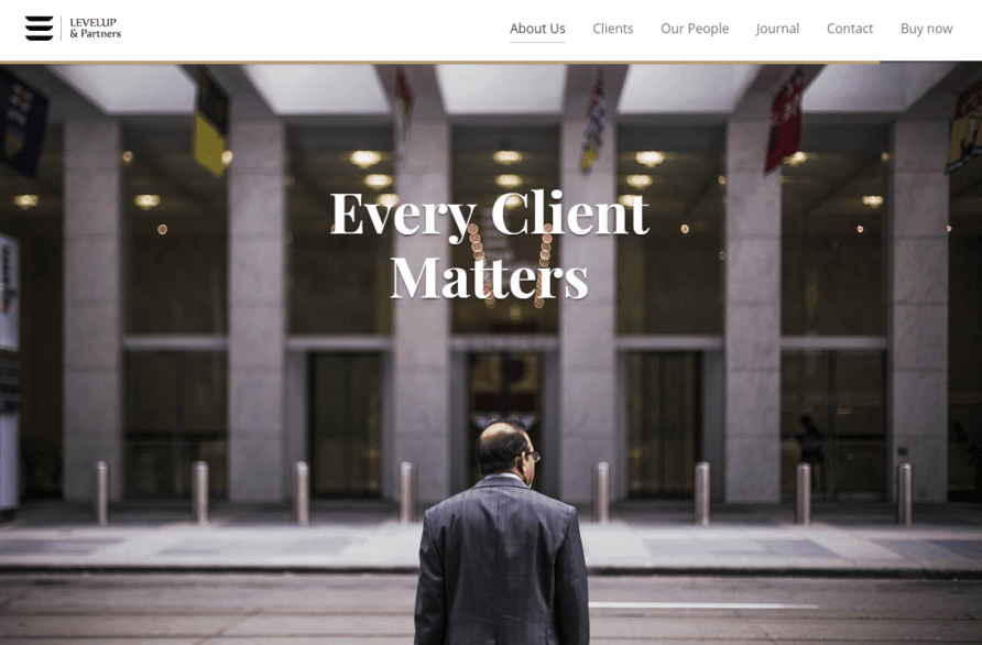 Level Up WordPress theme for law