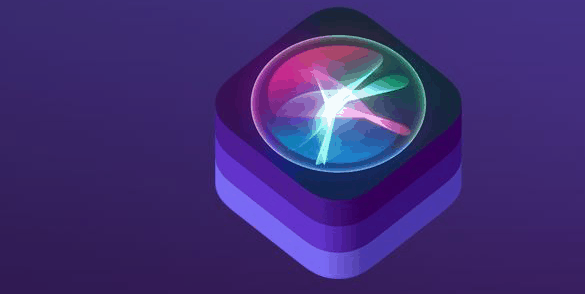 Siri icon with a purple background