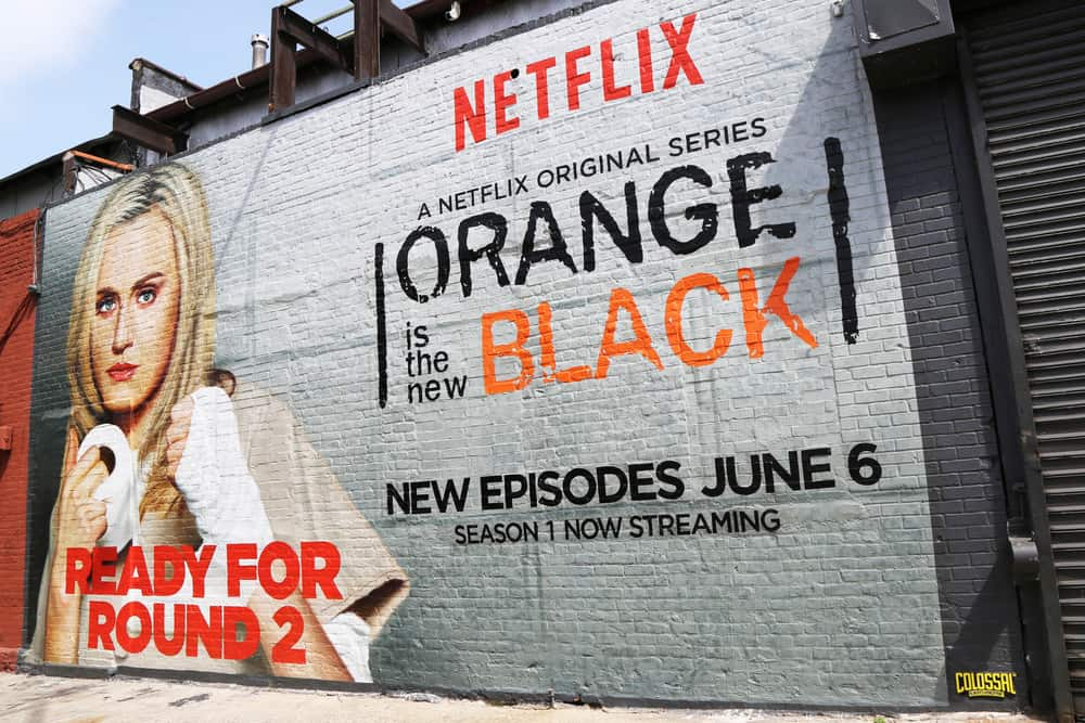 Orange is the new black billboard sign