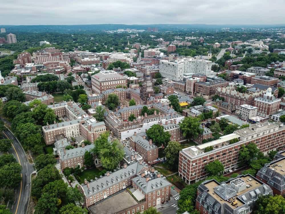 Aerial view of Harvard Law School