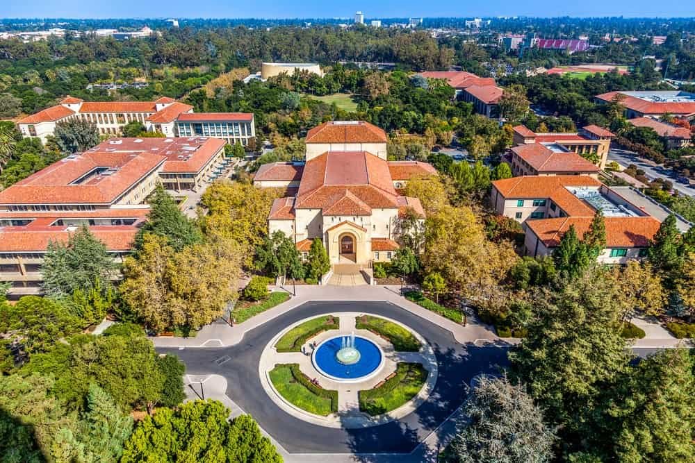 Aerial view of Stanford School