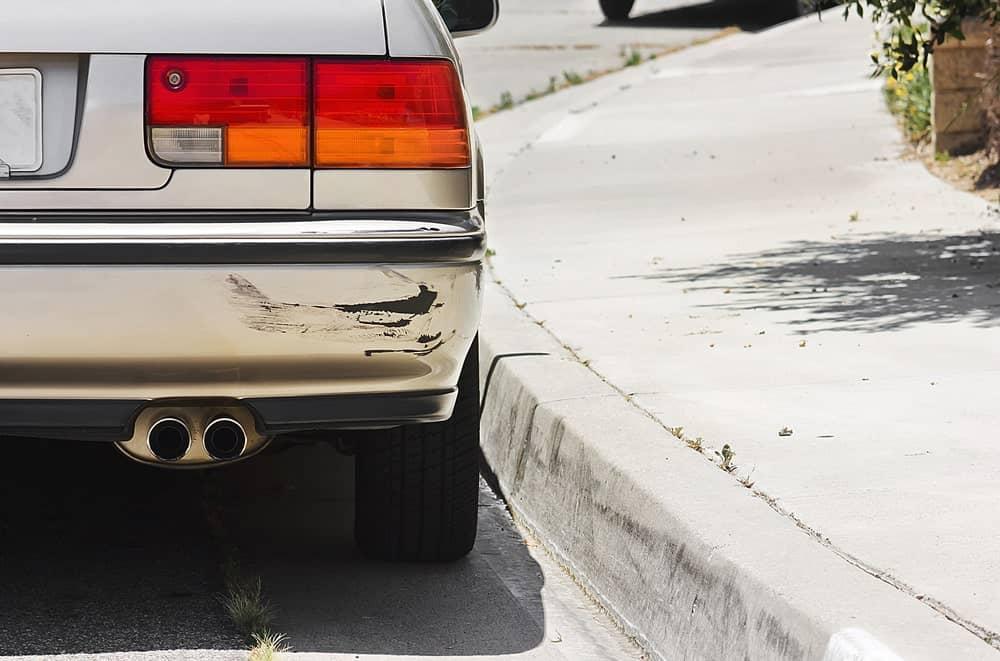 Side-swiped bumper