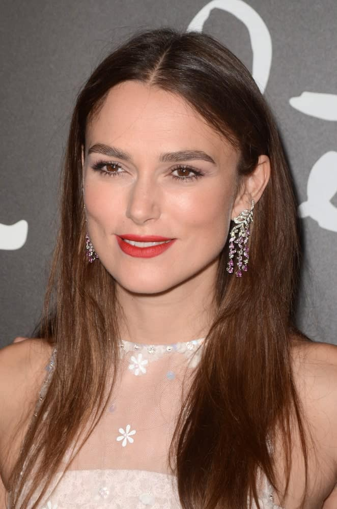 Keira Knightley at a film premiere