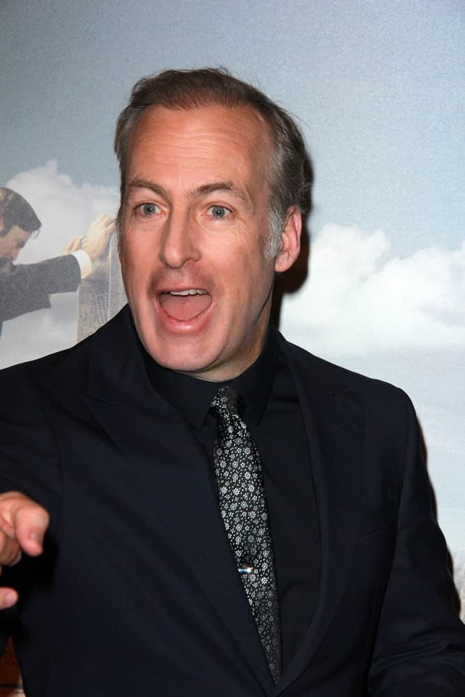 Bob Odenkirk in front of a painting
