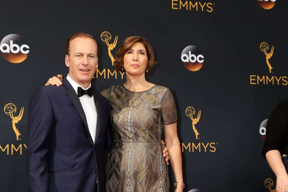 Bob Odenkirk with his wife
