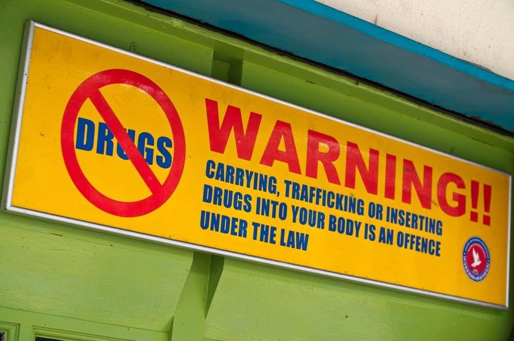 Warning against drugs