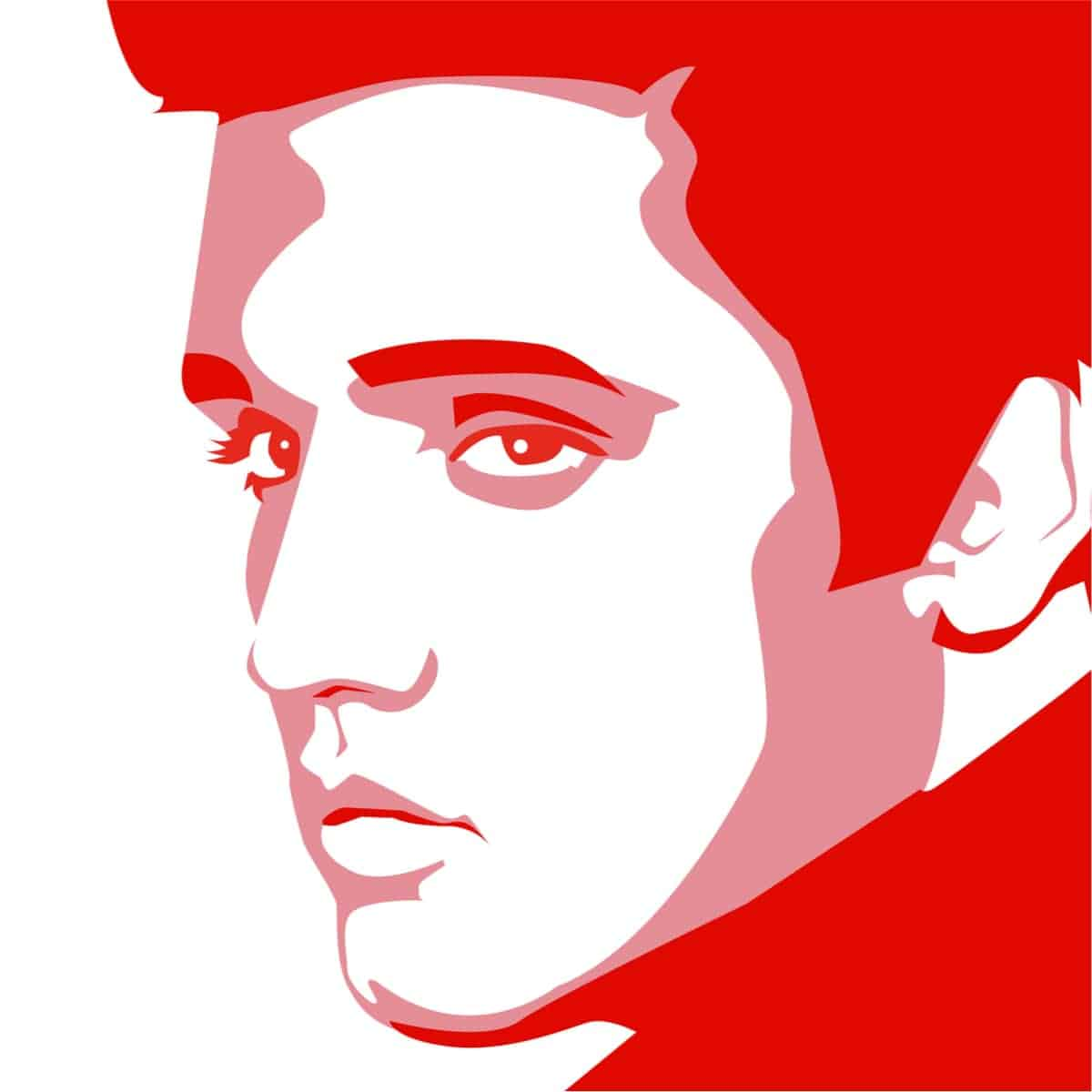 Black and white Elvis Presley