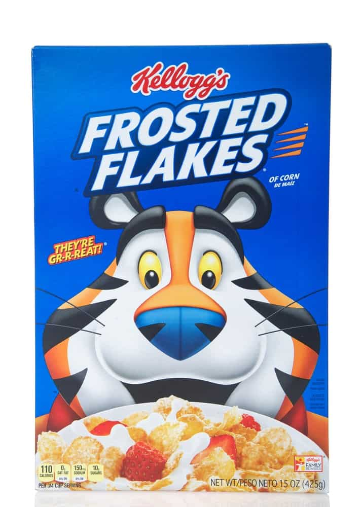 Box of Kelloggs Frosted Flakes