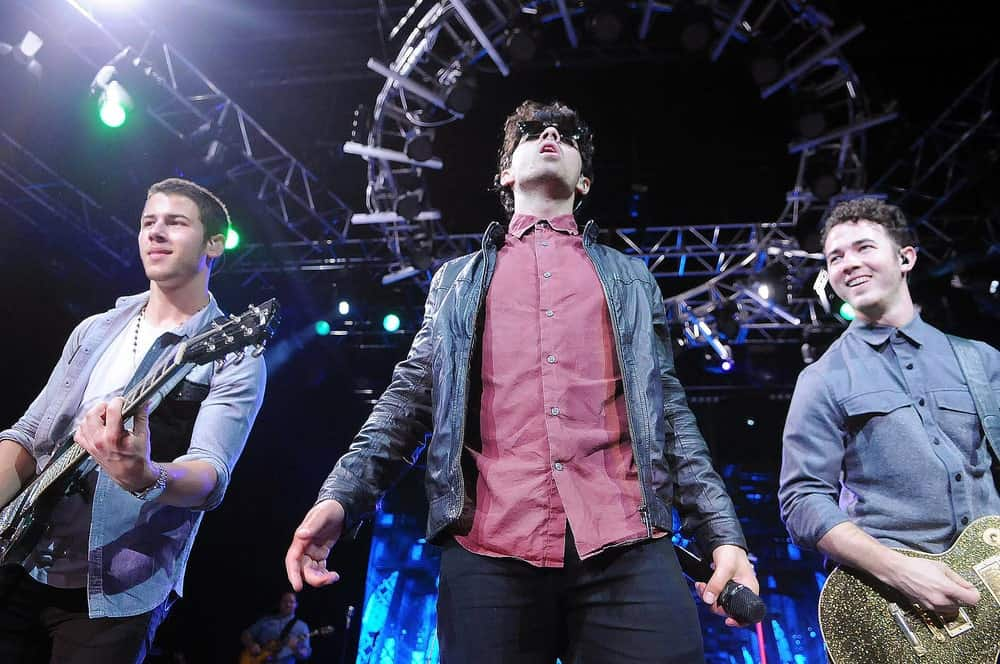 Jonas Brothers during a concert