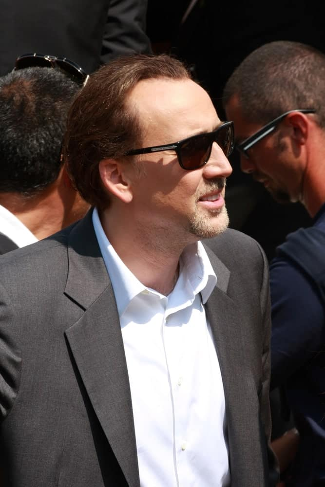 Nicholas Cage wearing sunglasses