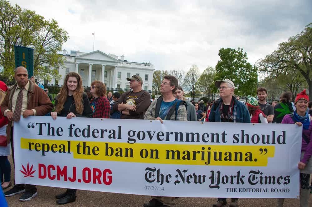 Protestors rally for marijuana legalization