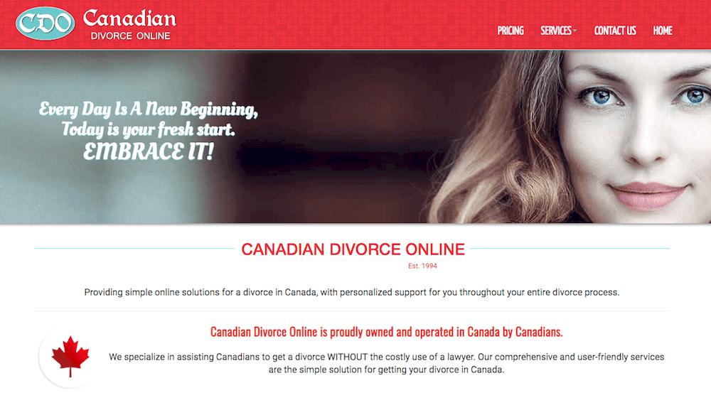 CanadianDivorceOnline service
