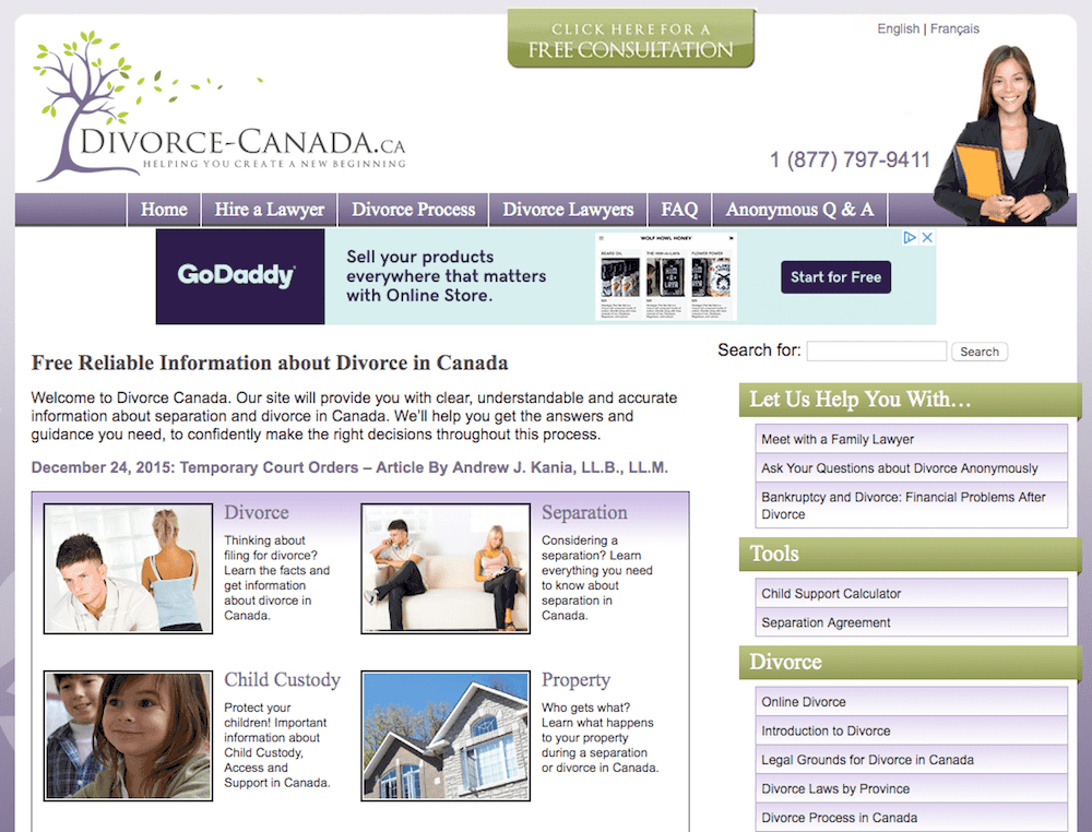 Divorce-Canada online divorce service website