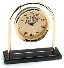 Billable Hour Brass Desk Clock