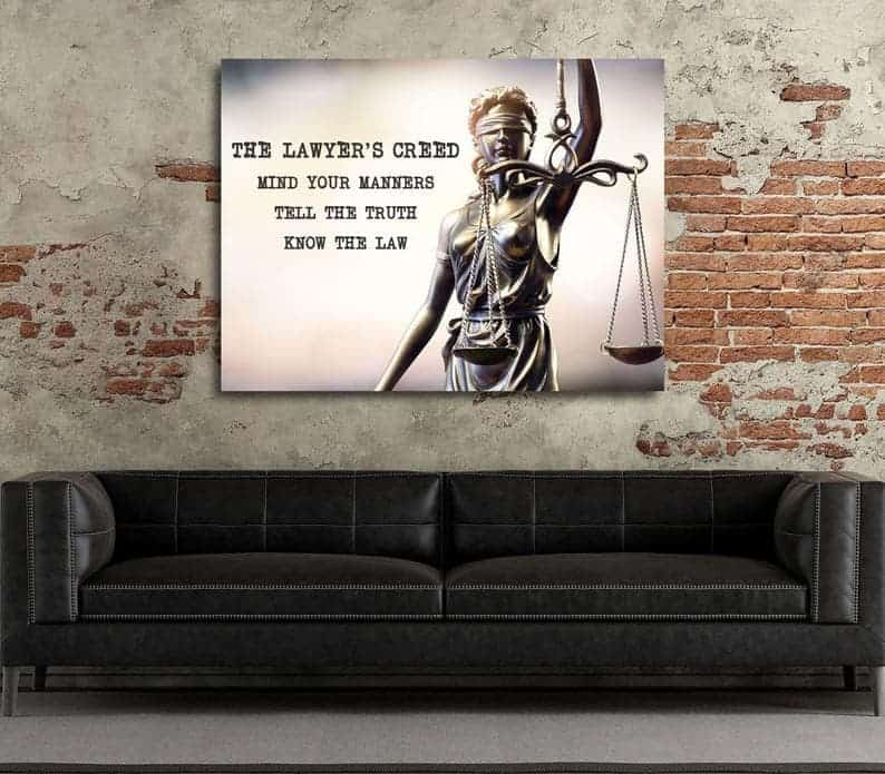 """The Lawyer's Creed"" canvas art"
