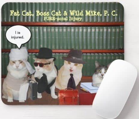 Legal Cats Mouse Pad