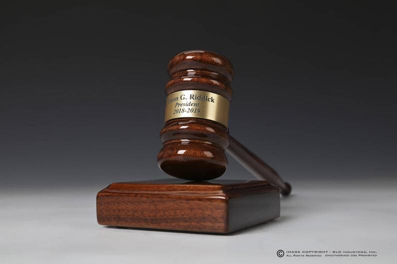 Personalized Engraved Gavel Set